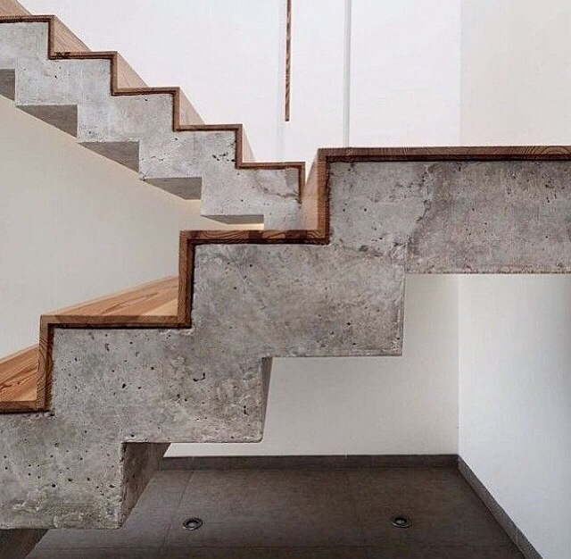 Stunning Staircase And Elevator Design Ideas: Concrete Stunning Staircases