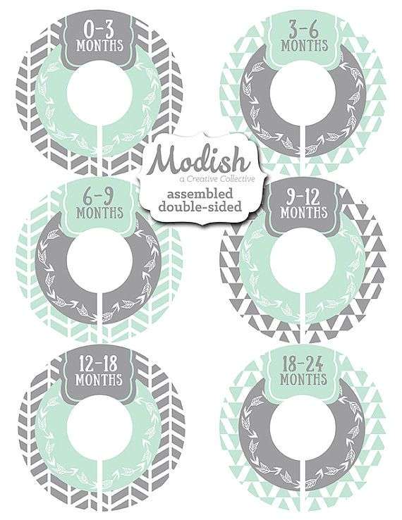 Closet Dividers Assembled Baby Organizer Girl Boy Gender Neutral Mint Gray Tribal Arrows Woodland Nursery