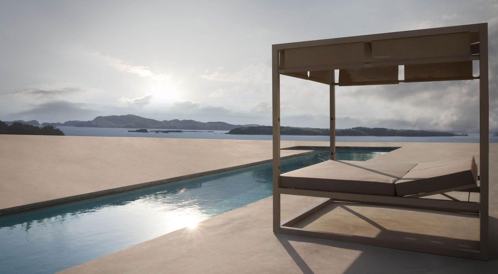 Furniture Inspiration ~ Comfy Outdoor Daybed Astonishing Design Inspirations Contemporary Wooden Canopy Outdoor Daybed On Fake Concrete Wood Floors With ... & contemporary outdoor canopy bed adjustable daybed elevada by ...