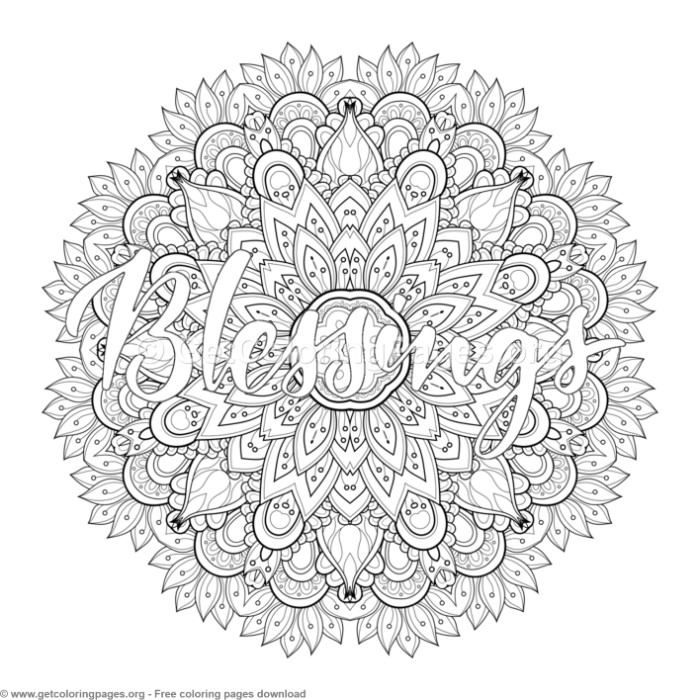 Blessings Mandala Coloring Pages - GetColoringPages.org # ...