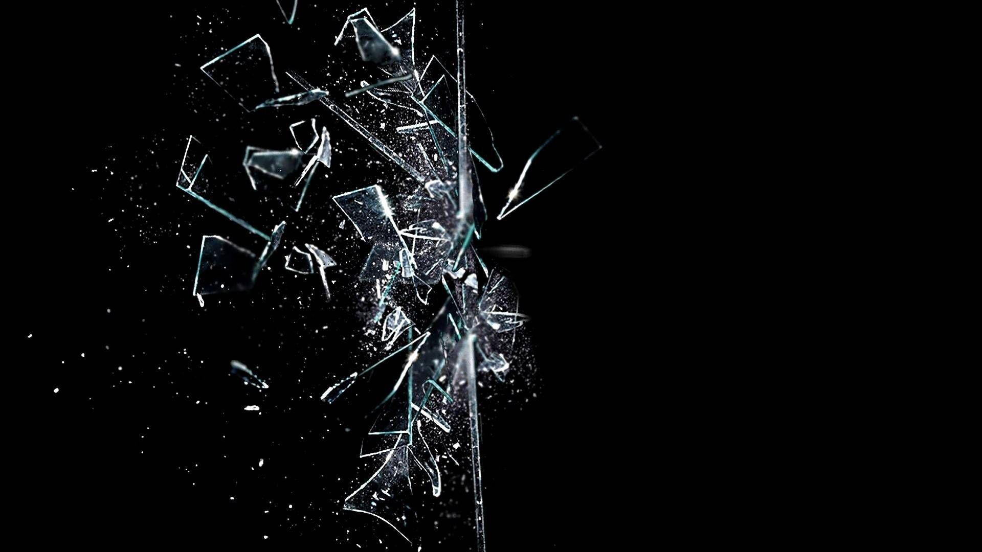 Broken Glass Wallpaper Widescreen Tela quebrada, Papeis