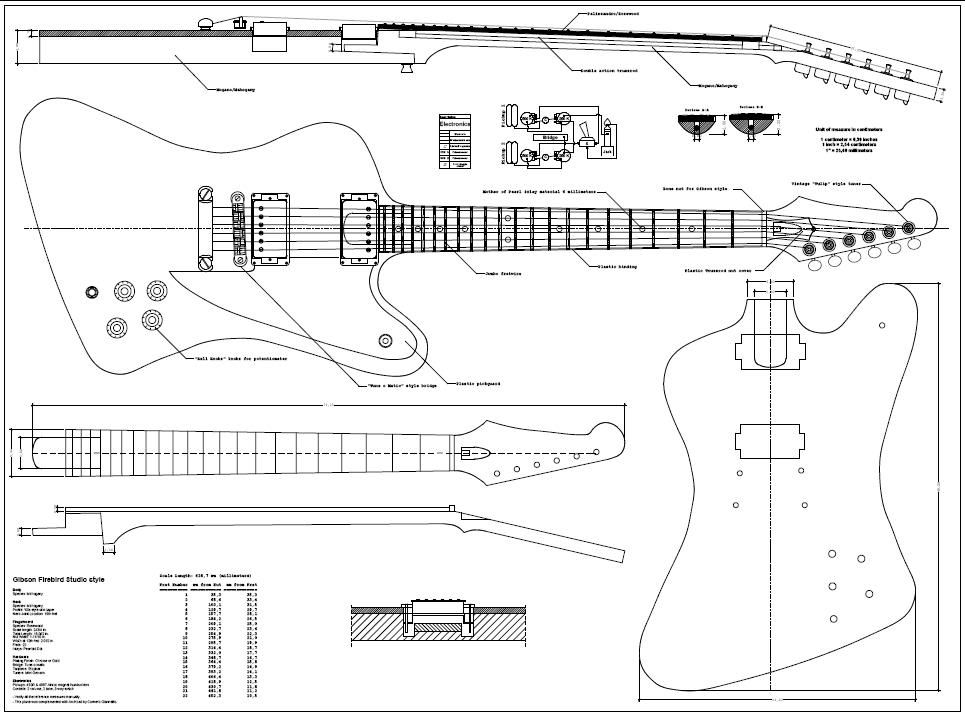 Firebird guitar body template guitar projects for Bass guitar body templates