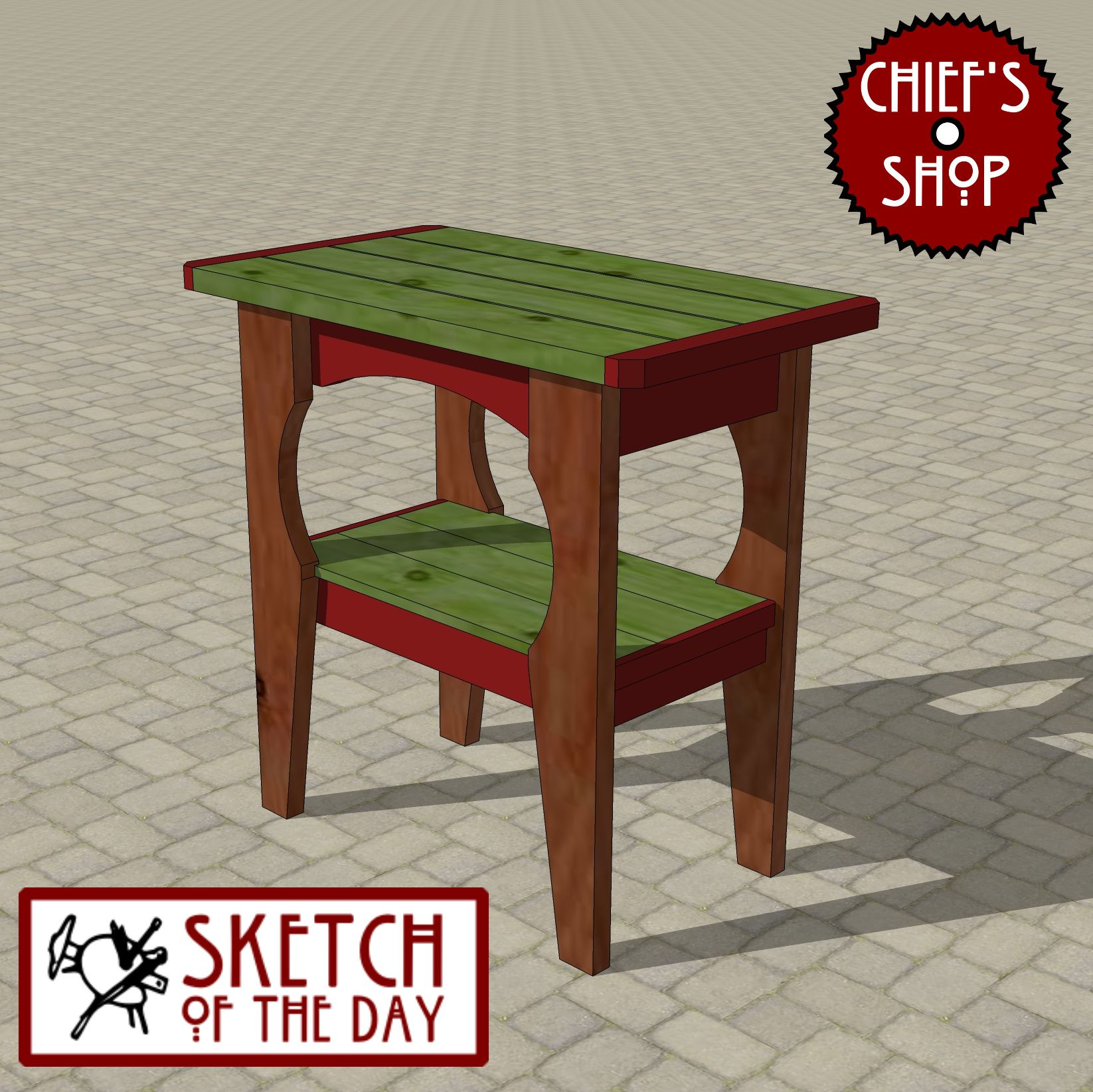 Sketch of the day grill side table woodworking chiefsshop sketch of the day grill side table geotapseo Gallery