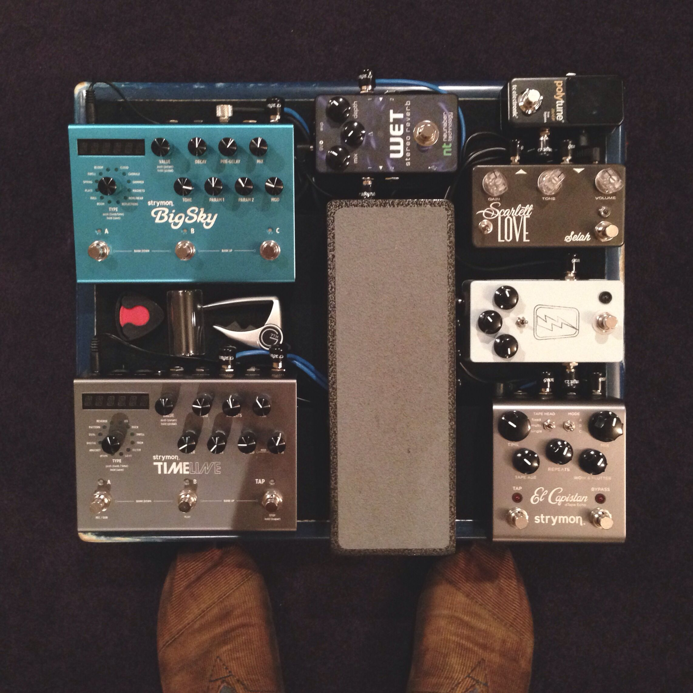 my personal pedalboard pedalboards guitar pedals pedalboard guitar effects pedals. Black Bedroom Furniture Sets. Home Design Ideas