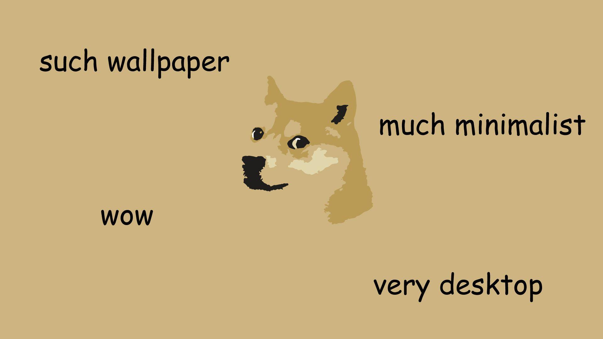 such wallpaper much minimalist wow doge Laptop
