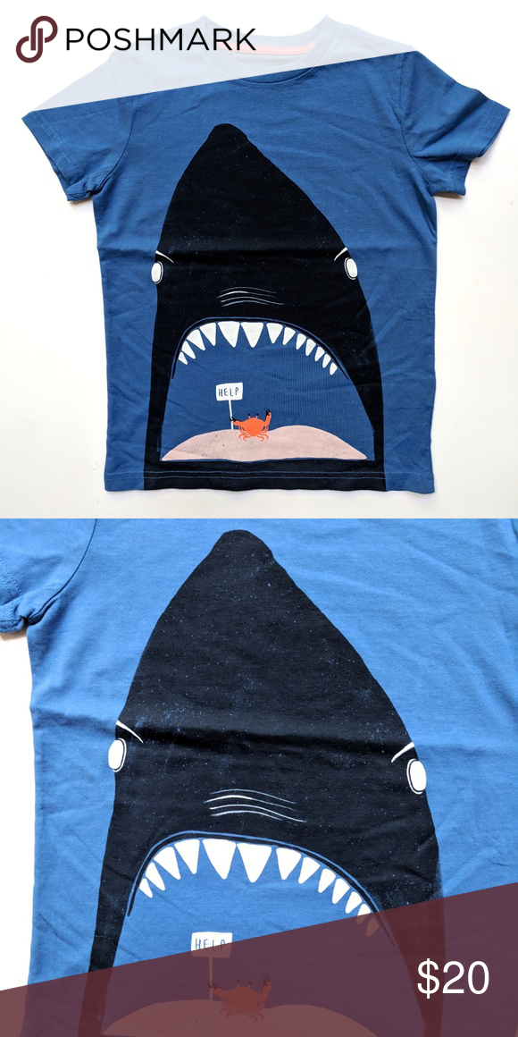 74b010c6f8e Mini Boden Boys Shark Crab Help Tee Top 6-7 Mini Boden Boys Shark Crab Help  Tee Top T-Shirt Size 6-7 Condition: NWOT All items come from a smoke-free  home, ...