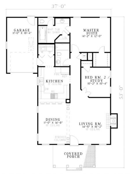 House Plan 110 00149 Traditional Plan 1 172 Square Feet 2 Bedrooms 2 Bathrooms House Plans Country House Plans Traditional House Plans