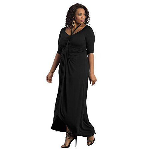 256ab040591 Lalagen Women s Lace Sleeve V Neck Plus Size Evening Maxi Dress Gown Red XL  at Amazon Women s Clothing store