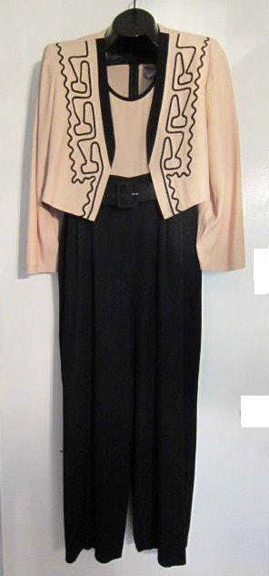 Jumpsuit & Bolero Jacket with Soutache Braid   http://www.ebay.com/usr/pt2bch  Visit me on Facebook and Twitter @Donna's Stuff & More