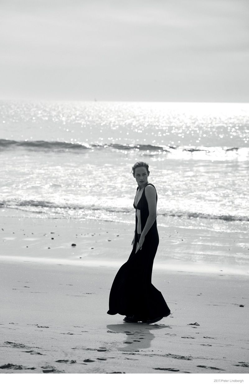 Amber Valletta Stuns In Black White Photos By Peter