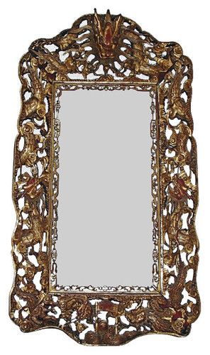 Large Chinese Carved Giltwood Dragon Frame asian frames   Dragons ...