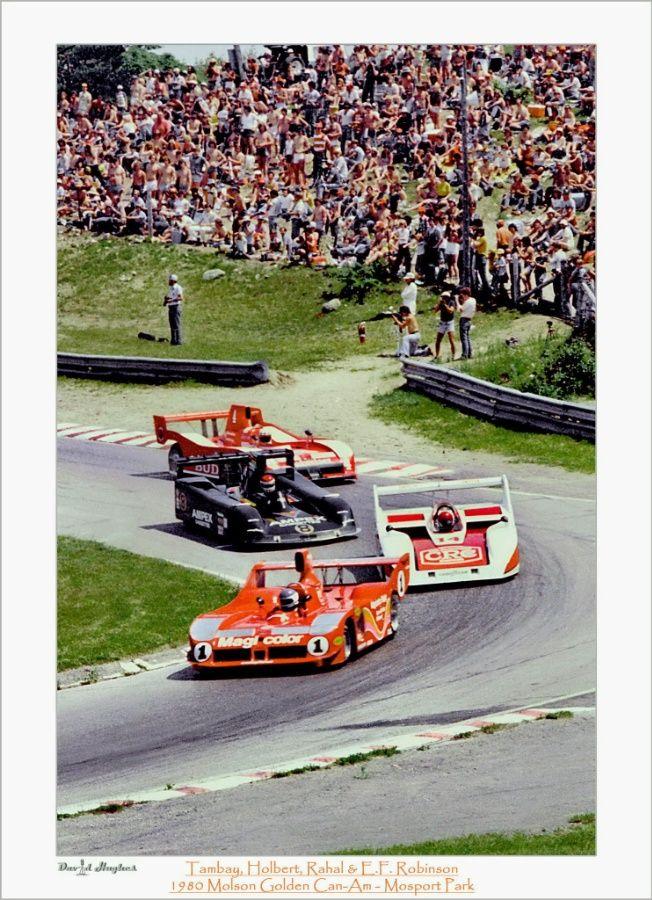 1 Patrick Tambay Lola T530 Chevrolet Carl A Haas Racing Teams 14 Al Holbert Holbert Cac 1 Chevrolet Ho Racing Vintage Race Car Sports Car Racing