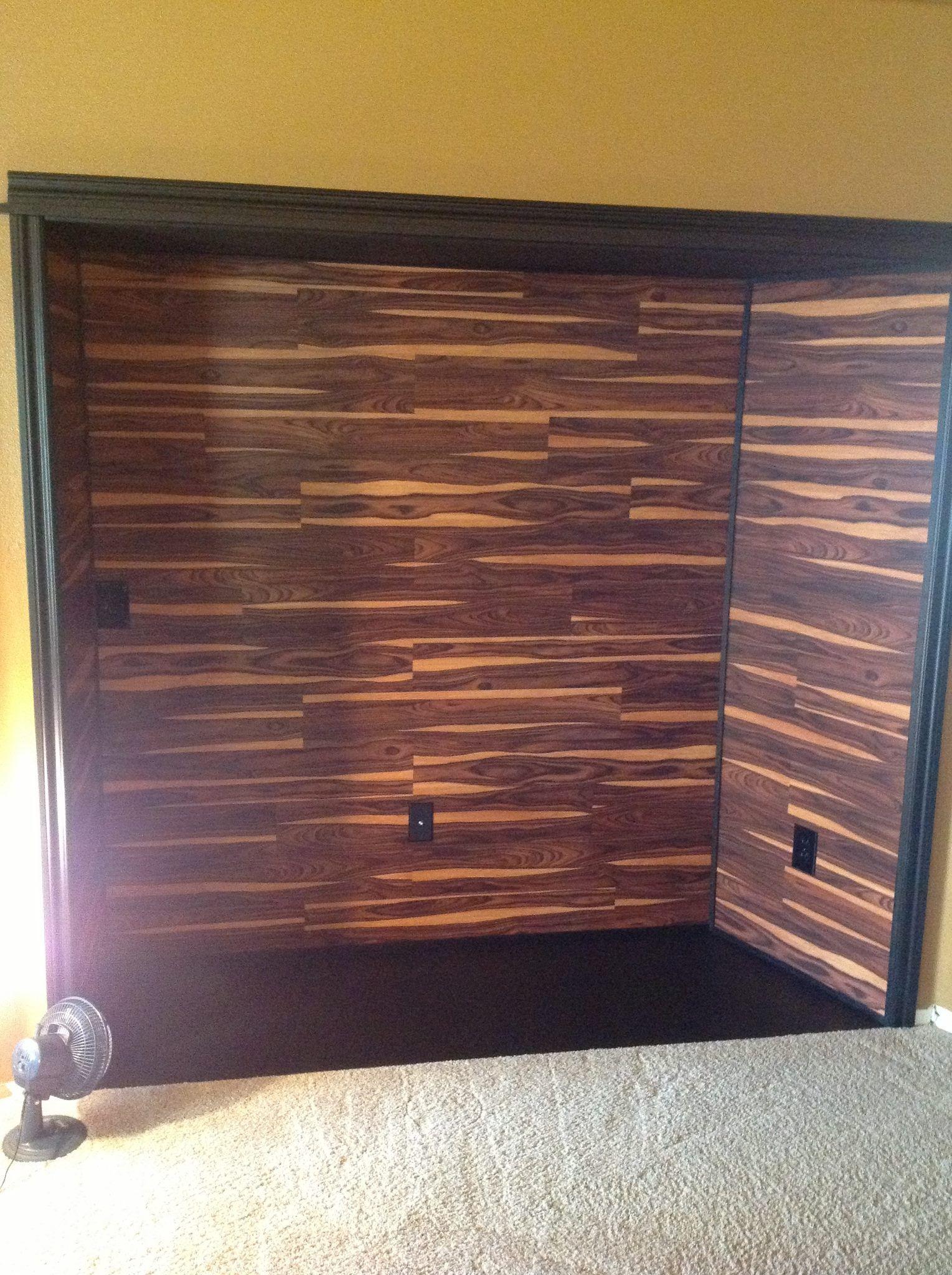 Inset Is Complete On The Wall We Glued Allure Vinyl Plank Flooring In African Allure Vinyl Plank Flooring Unfinished Basement Decorating Vinyl Plank Flooring