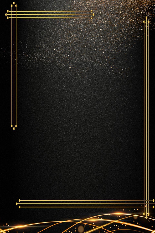 black gold business invitation