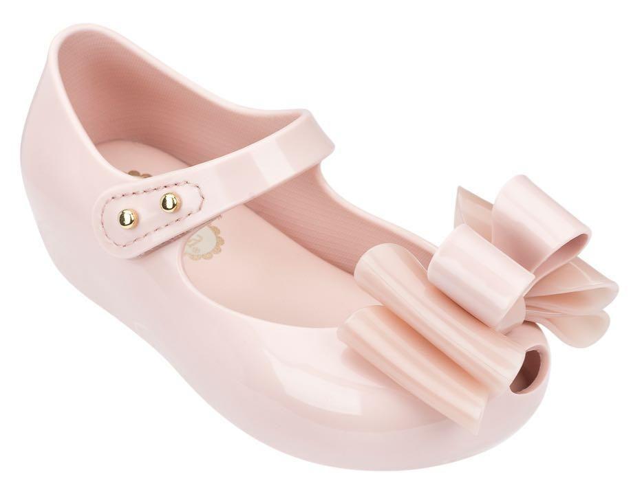 NEW Mini Melissa Ultragirl Beauty /& The Beast Mary Jane Shoes 8 Metallic Pearl