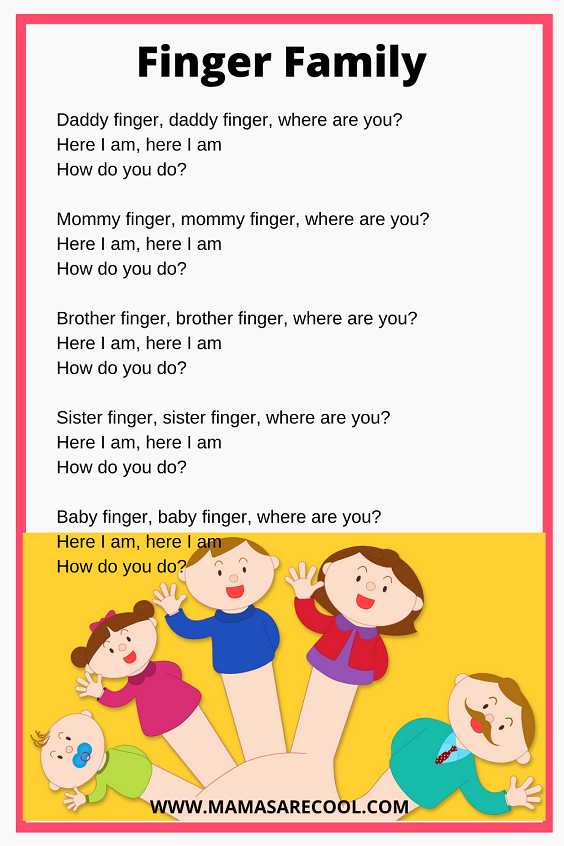 Finger Family Lyrics| Daddy Finger | Bob The Train