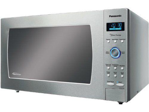Panasonic Nn Se782s Genius Prestige 1 6 Cuft 1250 Watt Sensor Microwave With Inverter Tech Countertop Microwave Oven Stainless Steel Microwave Microwave Oven