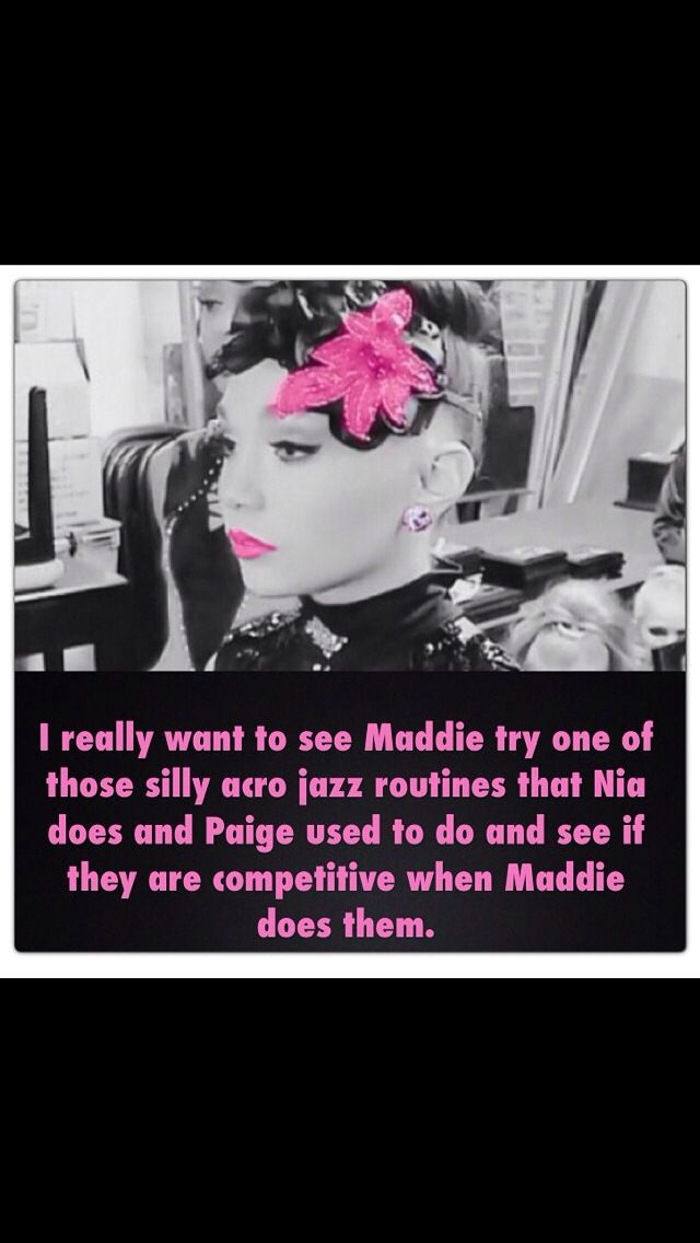 Maddie has only done 1 jazz solo it would be nice to see her