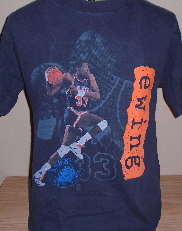 Vintage Patrick Ewing New York Knicks Basketball T Shirt By Vintagerhino247 On Etsy New York Knicks Knicks Basketball Mens Tshirts