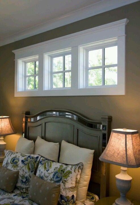 One way to redo the ugly 1970 39 s long horizontal windows in for Basement bedroom ideas no windows