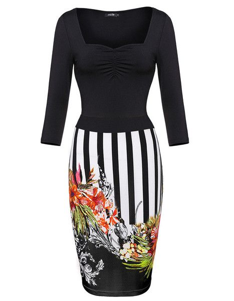 Floral Print Women Summer Style Bodycon Sexy Party Club Dress LAVELIQ