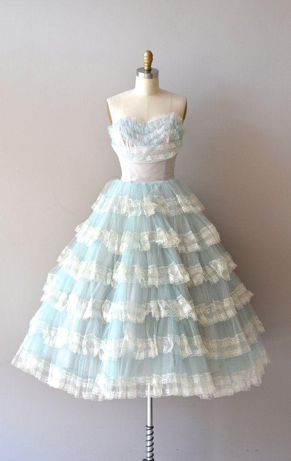Vintage 50s Tulle Dress