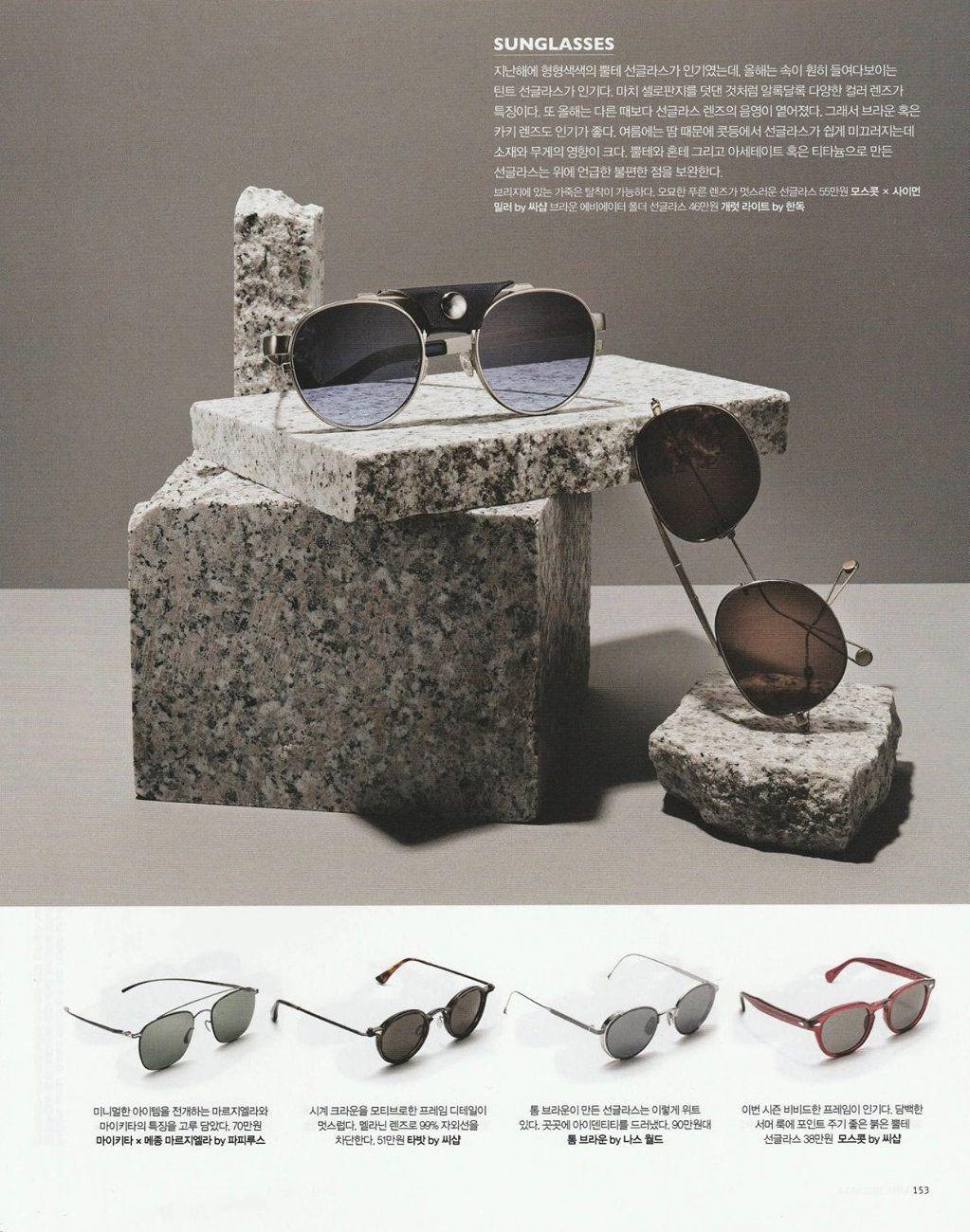 c6e9e6a6461 The MOSCOT X Simon Miller 001 Sunglass gets the spotlight in South Korea's  #LuelMagazine!