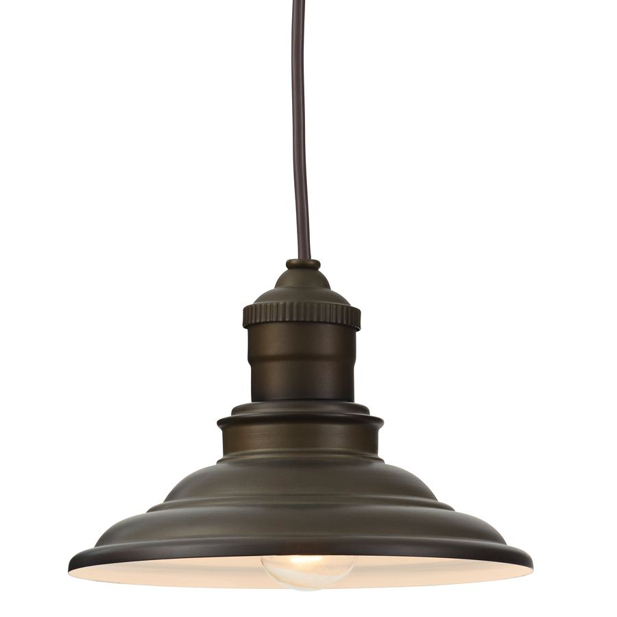 Allen roth hainsbrook 799 in aged bronze rustic mini cone pendant allen roth hainsbrook w aged bronze mini pendant light with metal shade aloadofball Gallery