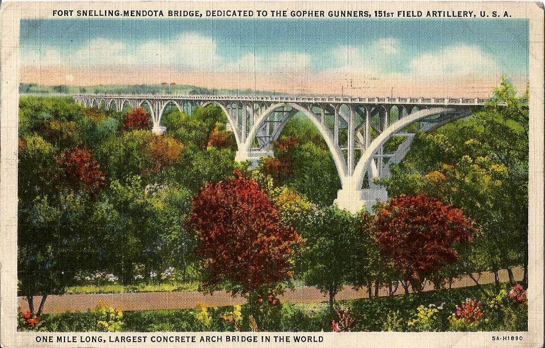 Fort snelling mendota bridge dedicated to the gopher