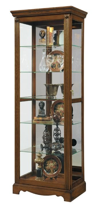 Curio Cabinet In Berwick Brown Closeout Pulaski Home Gallery Stores Curio