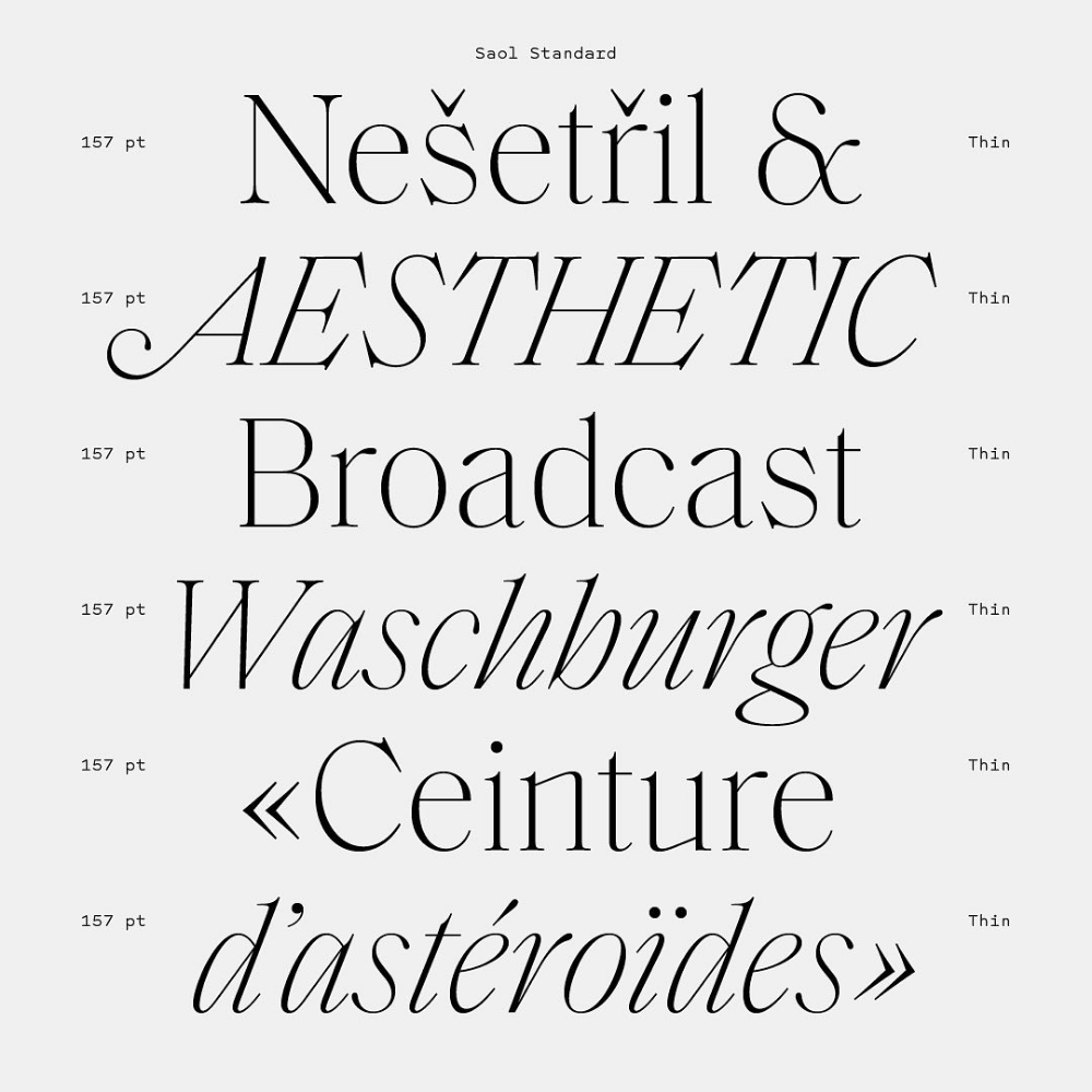 Schick Toikka Auf Instagram We Updated Saol With Thin Weights And A Standard Family Int Typography Logo Inspiration Typography Design Font Types Of Lettering