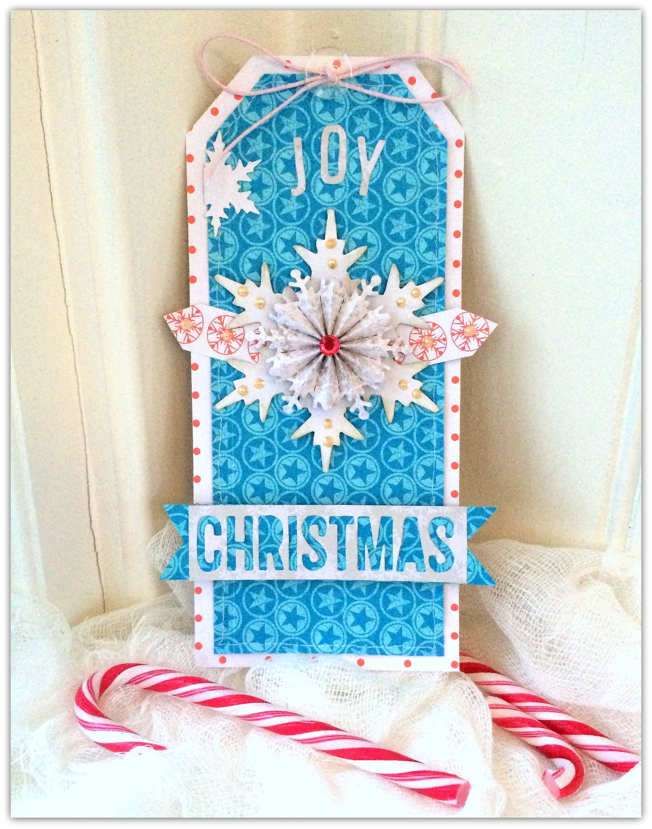 'Sizzix Winter Challenge 2014' week 1 - Scrapbook.com - Make your own gift tags with Sizzix dies.