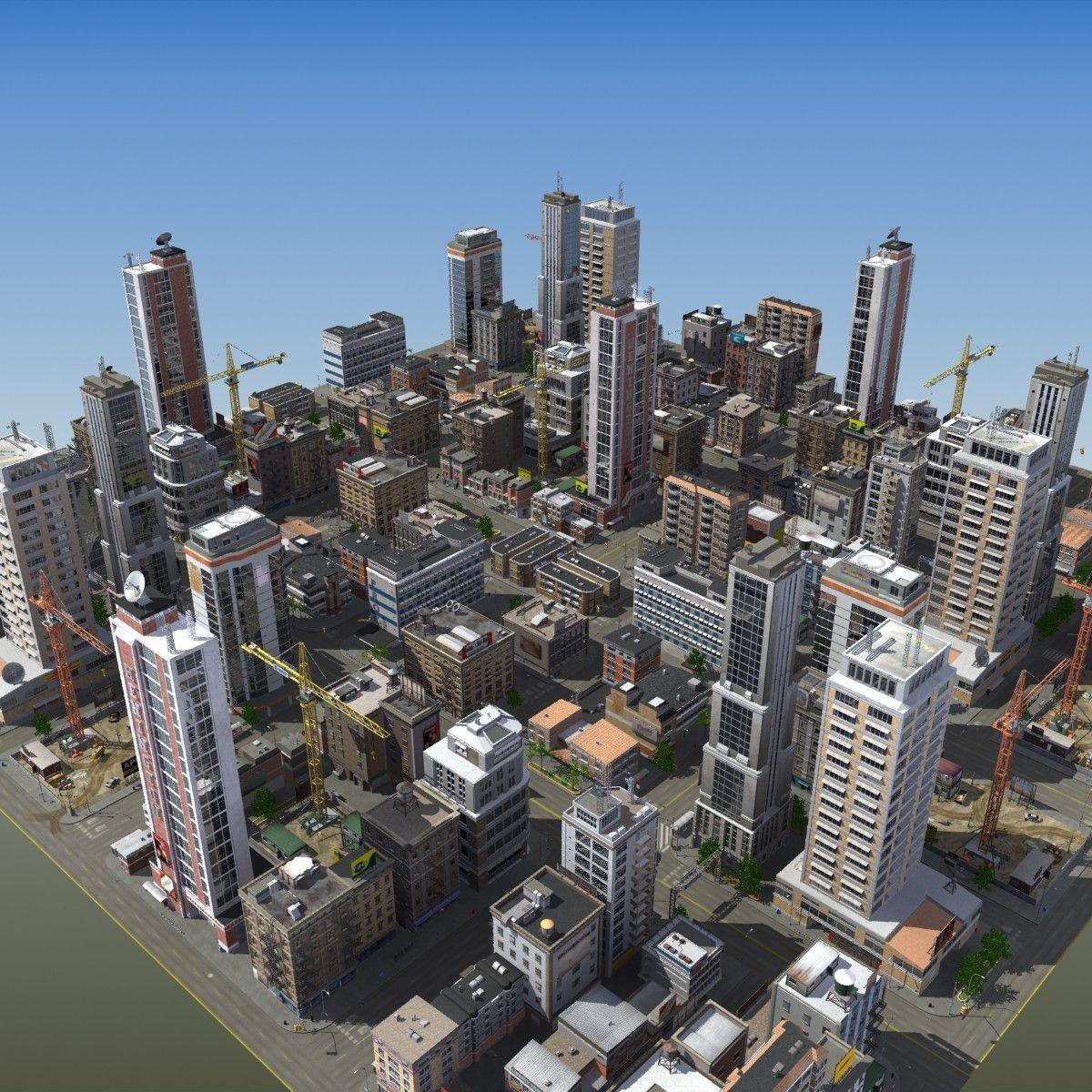 modular city buildings hd 3d max City