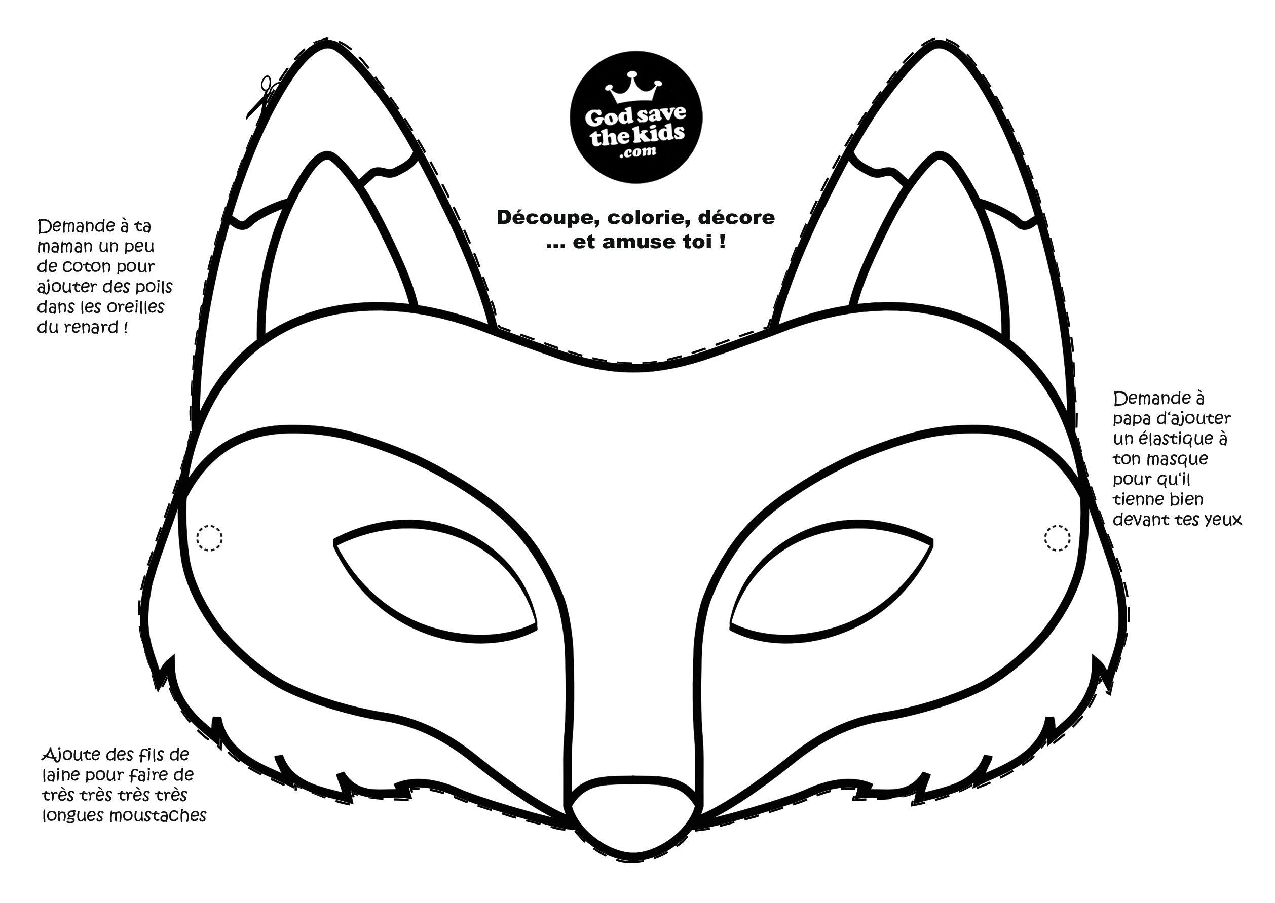 Meilleur de image renard a imprimer gratuit - Masque de renard a imprimer ...