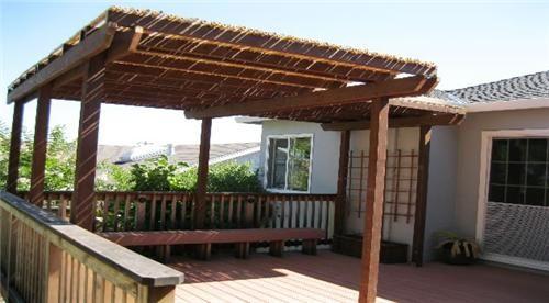 Tropical Bamboo Pergola Pergola And Patio Cover Hortus Design