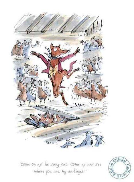 Pin By Hunters Alley On Art Children S Books Quentin Blake Fox Poster Quentin Blake Illustrations