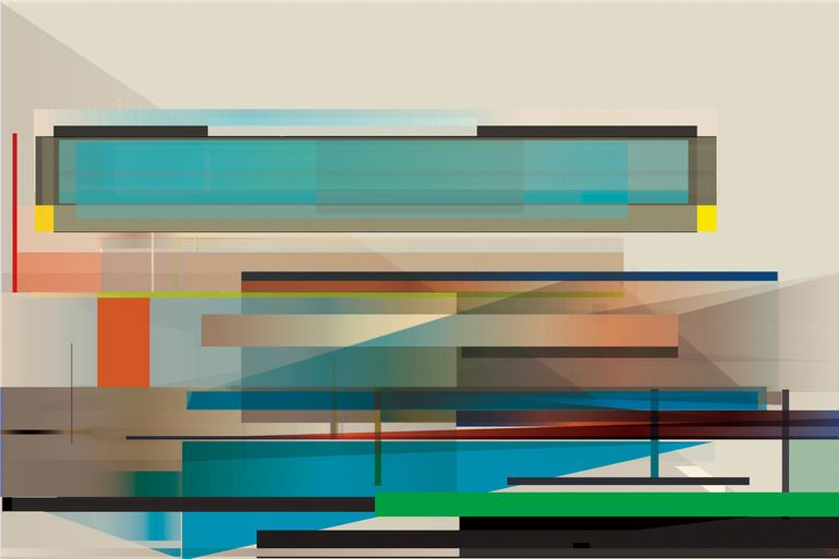"Saatchi Online Artist: Robert von Bangert; Vector Graphics, 2012, New Media Art ""Mercer Island"""