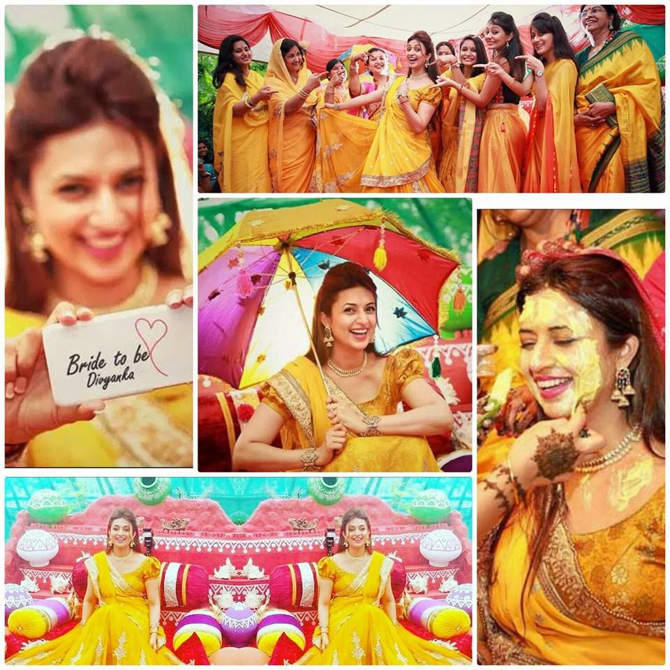 A VibrantColorful Celebrity Wedding Get Inspired From Divyanka Tripathis Mehndi Haldi Photographs