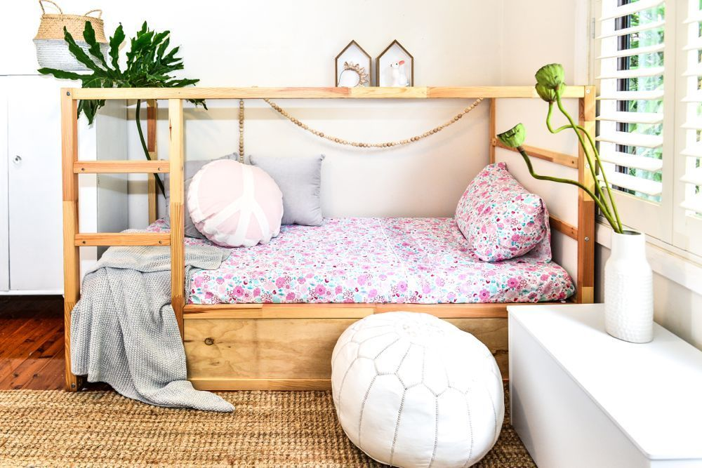 Your Kids Will Sleep Sweetly In Our Organic Cotton Sheets Ikea Kura Bed Ikea Bed Hack Ikea Bed