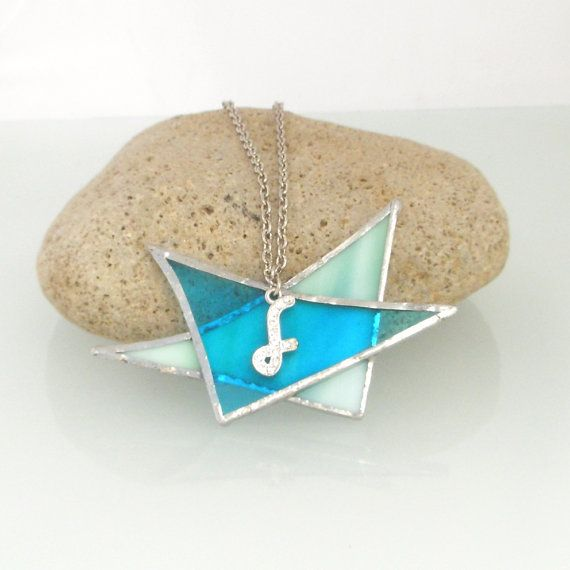 Stained flass Necklace Under 25 usd by Galleros on Etsy, $24.00