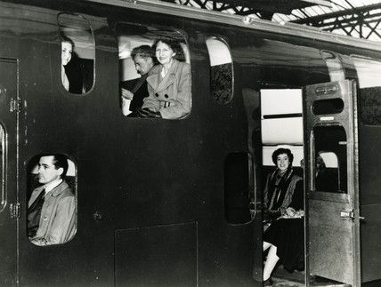 A double decked train carriage, Charing Cro