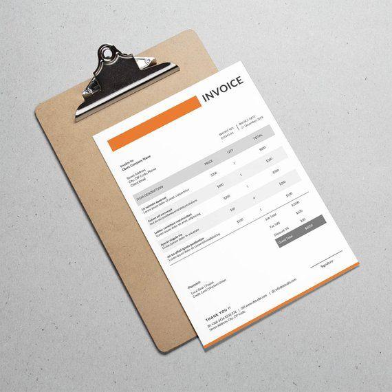 Modern Invoice Template Freelancer Invoice Photographer