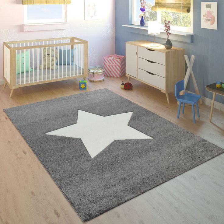 Kinderteppich Unisex Stern Grau Weiß in 2020 Teppich
