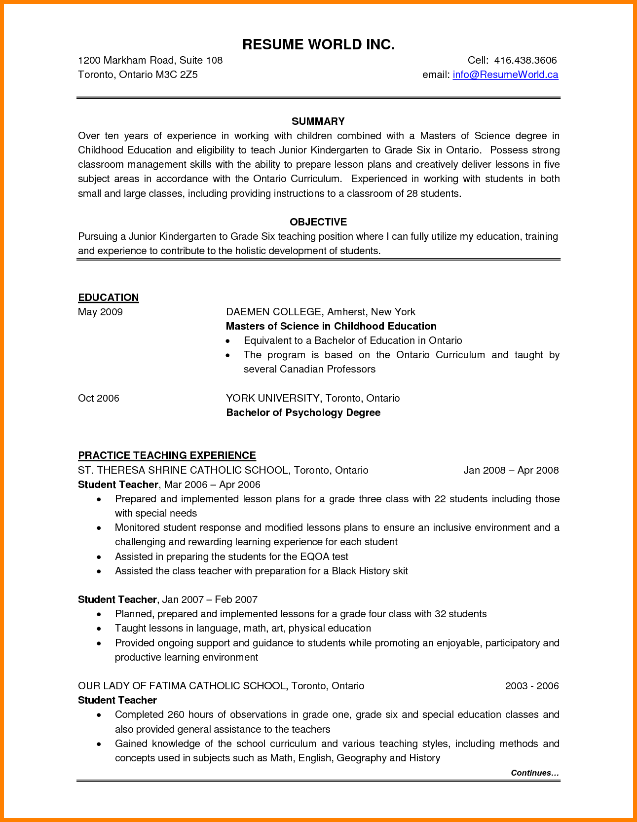 Free Resume Templates Ontario Free Resume Templates Pinterest