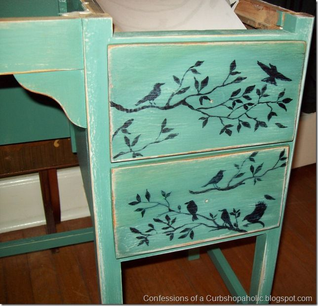 Bird Transfers on Drawers {Or Could Also Hand Paint These On} <3