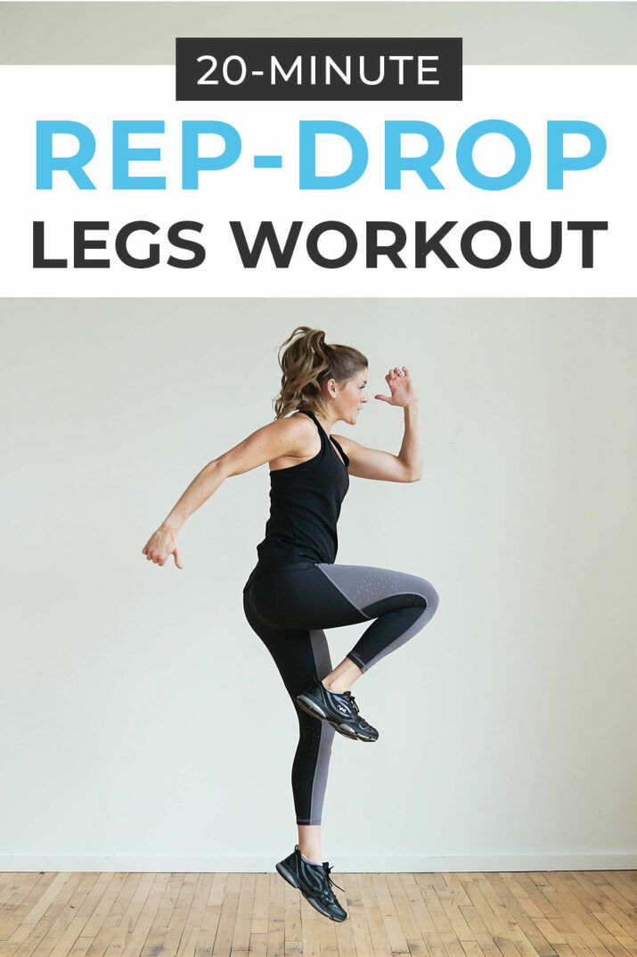 Rep Drop Legs Workout