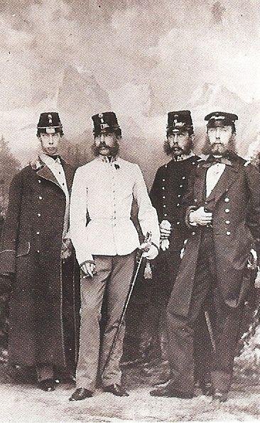 Franz Joseph His Brothers Old Portraits Set Design Theatre Military History