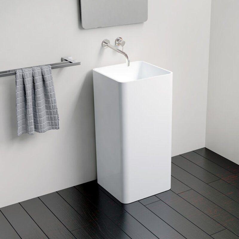 Kohler Veil Pedestal Lavatory No Overflow Wayfair In 2020 Modern Bathroom Small Bathroom Bathroom Sink