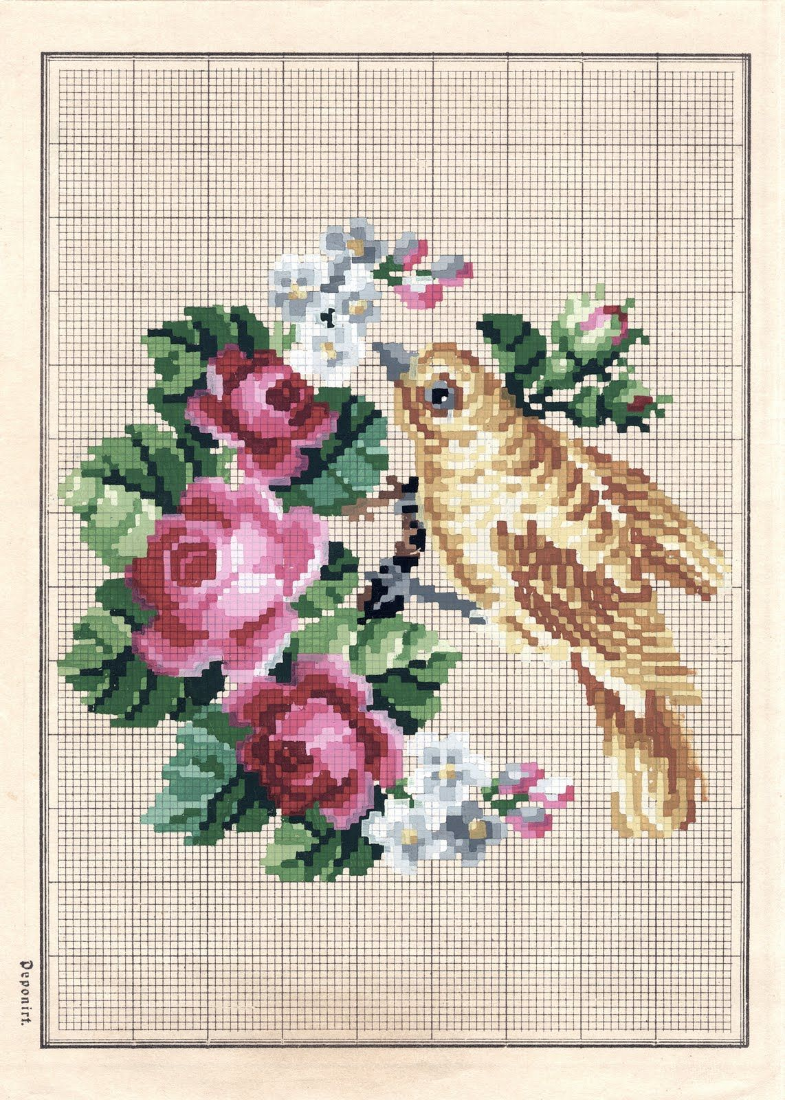 Animals Cross Stitch Pattern Book MANY MORE MINIS 160 Designs Flowers Birds +