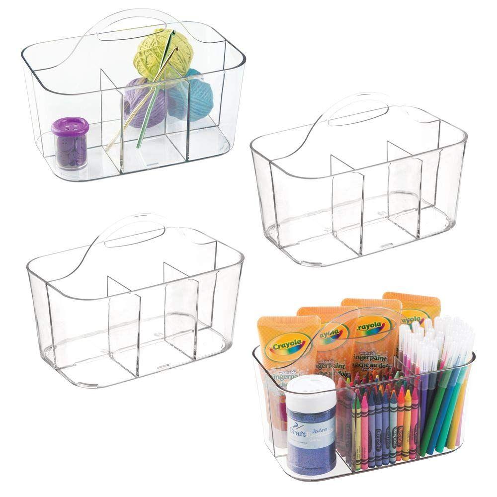 Amazon com: mDesign Plastic Portable Craft Storage Organizer